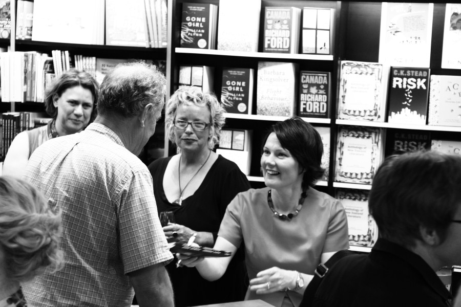 Therese Lloyd kindly signing books.