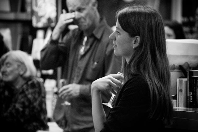 Jenn Dewey listening to the launch. © M Starosta