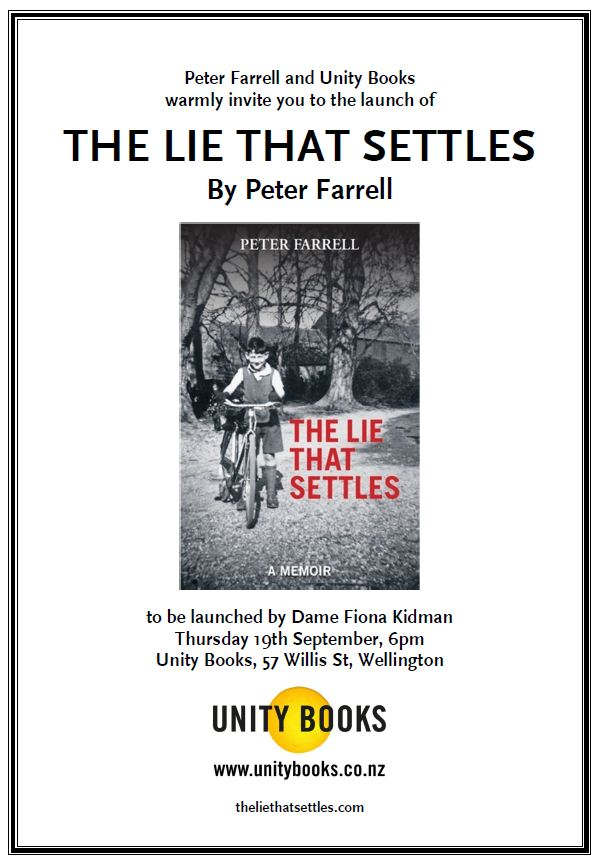 BOOK LAUNCH: The Lie That Settles by Peter Farrell