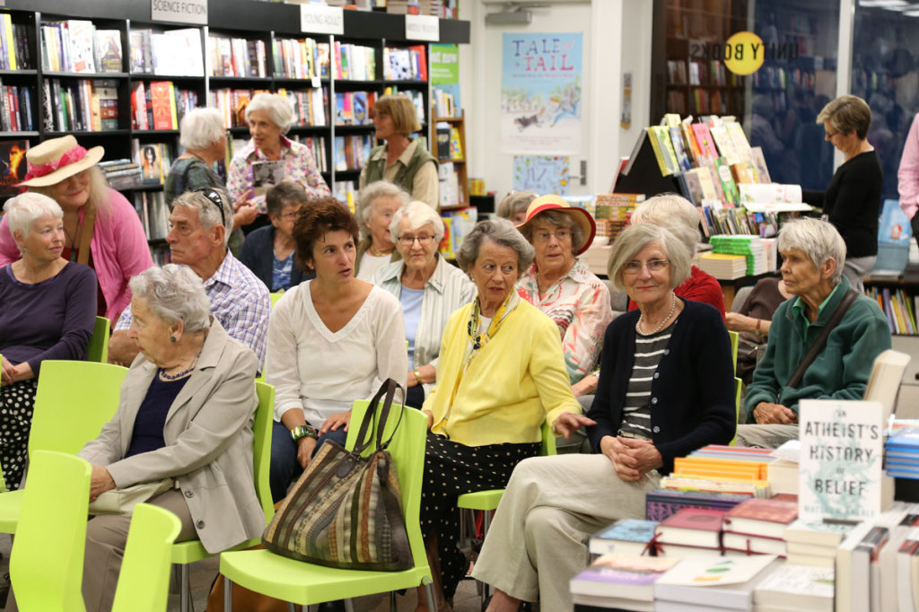 The crowd at the lunchtime event