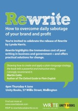 LAUNCH | Rewrite by Lynda Harris | 6pm Thursday 4th June | Unity Wellington