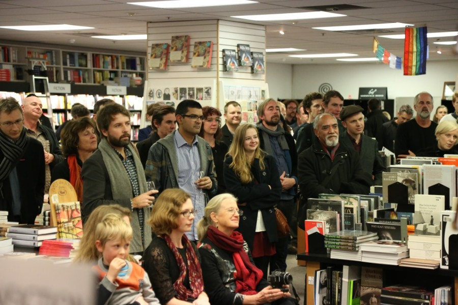 The crowd at the launch for 'The Invisible Mile'.