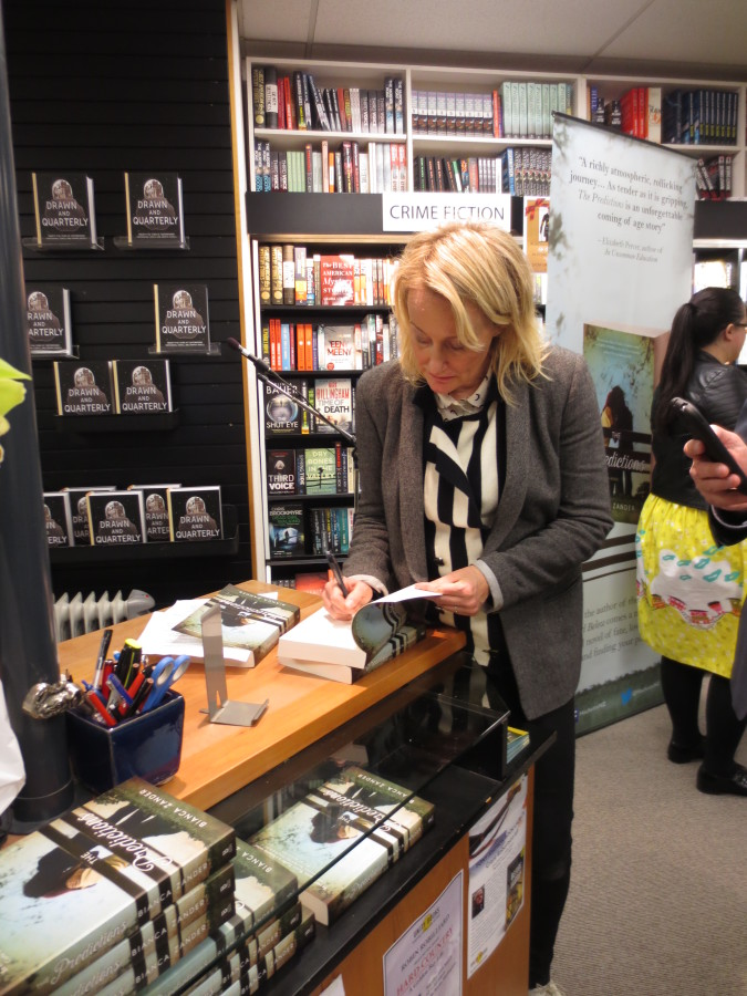 Bianca signing copies of The Predictions
