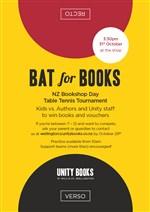 NZ BOOKSHOP DAY | Table Tennis Tournament | 3.30pm, 31st October 2015 | Unity Books Wellington