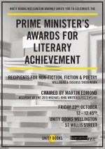 Lunchtime Event | Prime Minister's Awards for Literary Achievement | Friday 23rd October 12pm