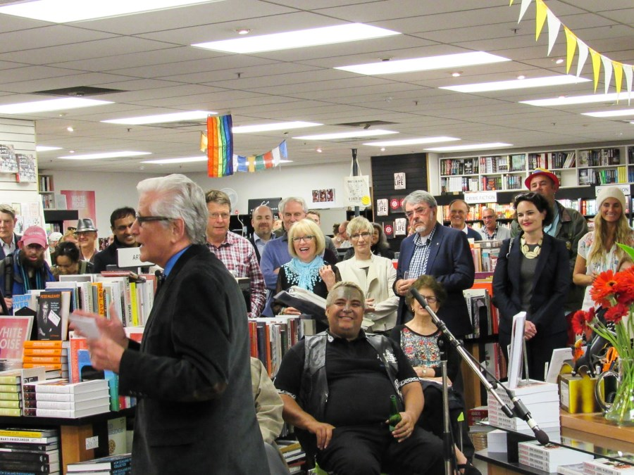 The crowd at the book's launch.