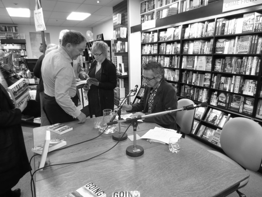Colin signs copies of Going South.