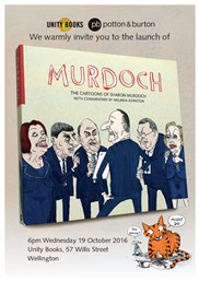 Book Launch | Murdoch: The Cartoons of Sharon Murdoch with Commentary by Melinda Johnston | Wed 19th October 6pm | In-store at Unity