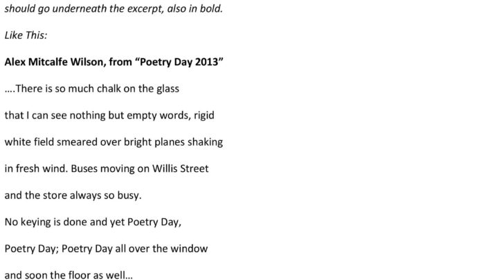 National Poetry Day, 16th August 2013