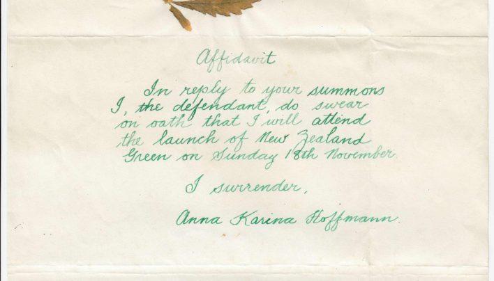 NZ Green Launch, 18th November 1990