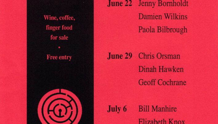 Writers at The Vault, from 22nd June 1991
