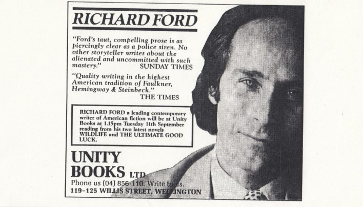 Richard Ford in-store event, 11th September 1991