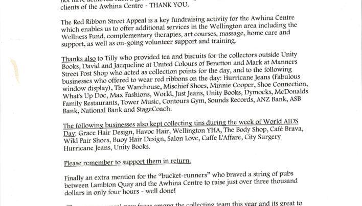NZ AIDS Foundation Street Appeal, 1998