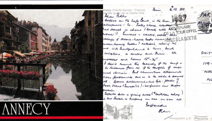Alan Preston, A Postcard from France, 6th September 1989