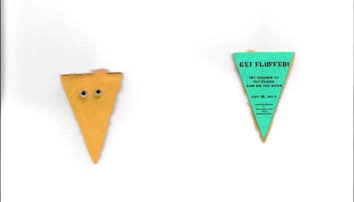 """Get Fluffed"" invitation, 18th July 1998"