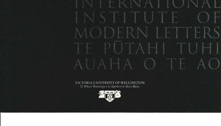 Inauguration of the International Institute of Modern Letters, 14th March 2001