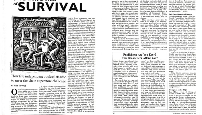 """The Sweet Smell of Survival"", Publishers Weekly, 25th October 1993"