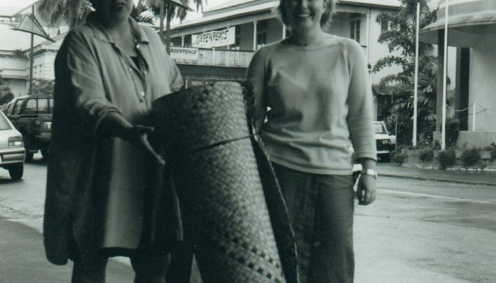 Jane Williams and Tilly Lloyd in Suva, 1998
