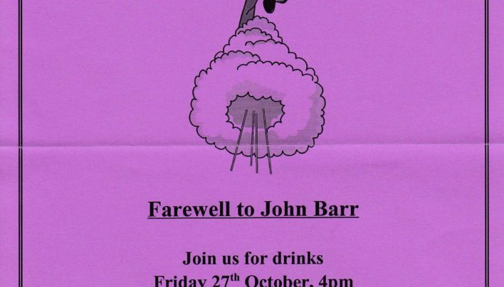 John Barr Farewell Party, 27th October 1995