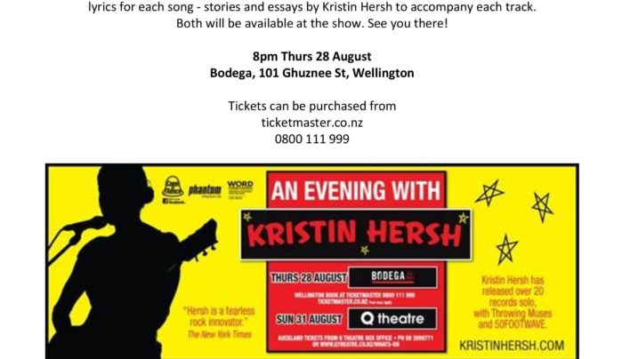 Kristin Hersh at Bodega, 28th August 2014