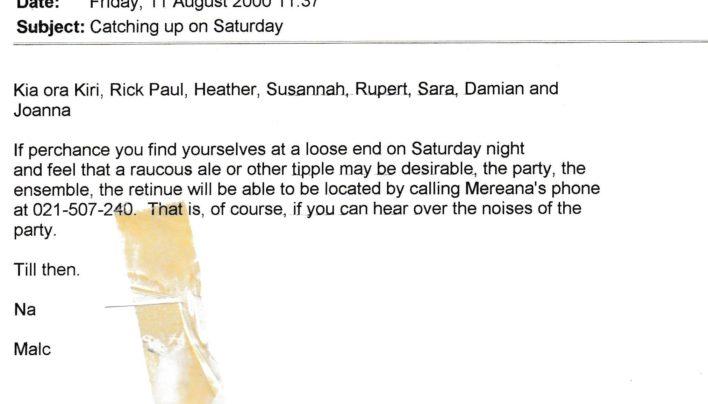 Malcolm MacLean leaving saga, 17th July – 11th August 2000