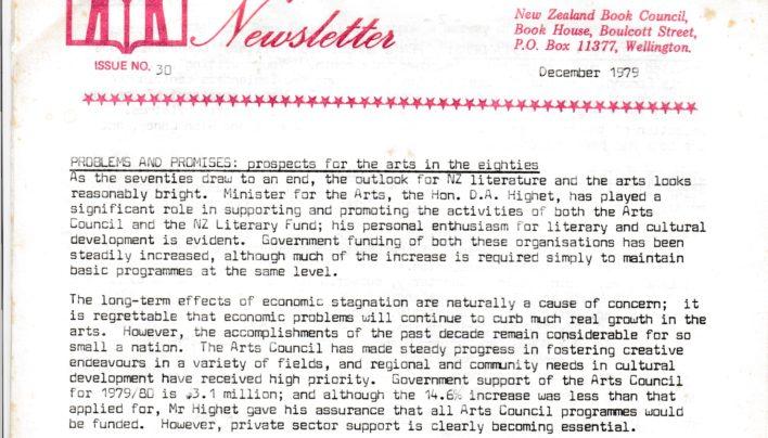 NZ Book Council Newsletter, 1979