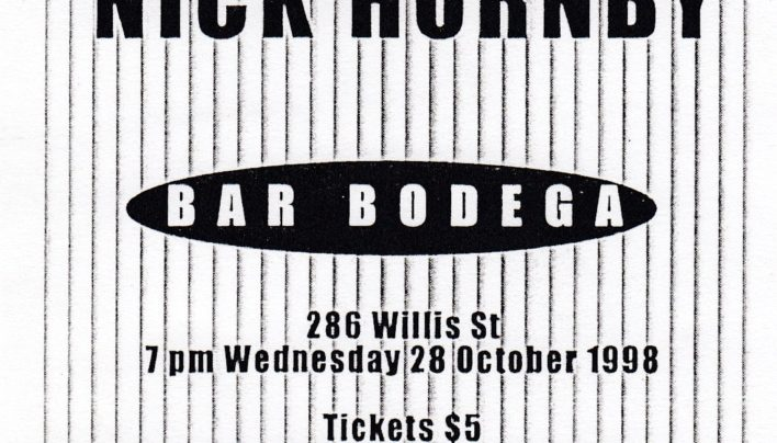 Nick Hornby Event at Bar Bodega, 28th October 1998