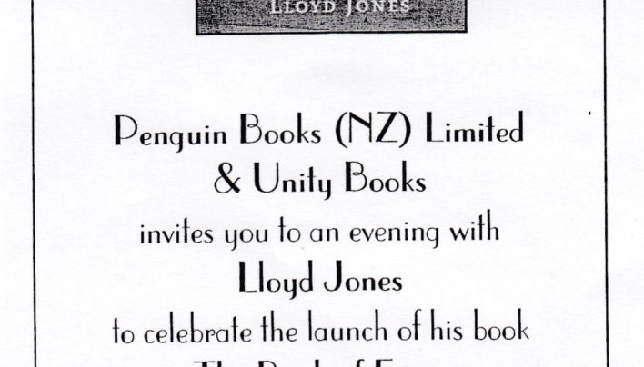 Lloyd Jones launch, 23rd August 2000
