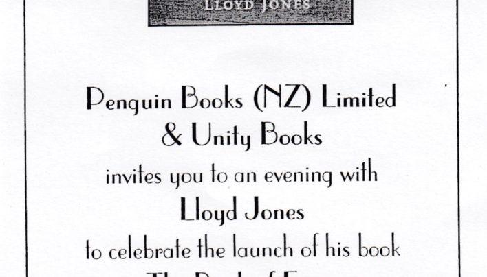 Lloyd Jones launch, 23rd August 2000