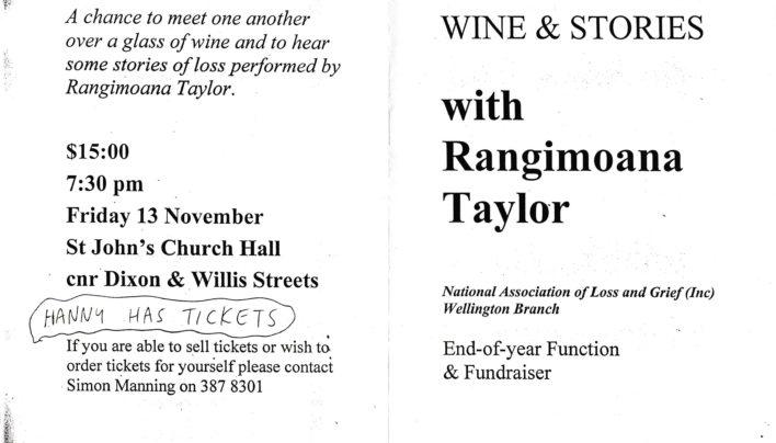 Rangimoana Taylor Event, 13th November 1998