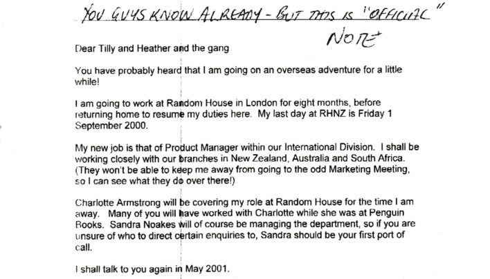 Tammy is going to London, 25th August 2000