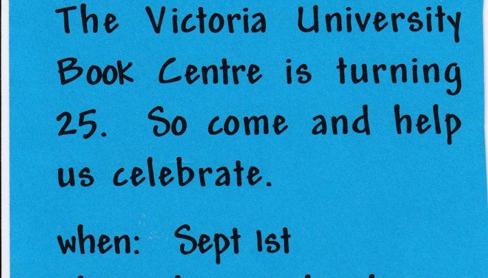 Vic Books 25th Birthday, 1st September 2000