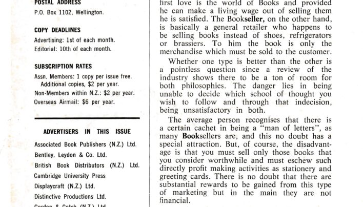 Which Side Are You On? article, NZ Bookseller, 1968