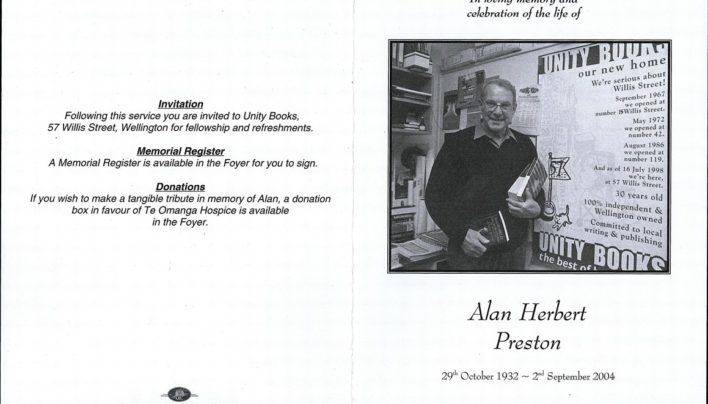 Alan Preston's funeral, wake and eulogies, 7th September 2004