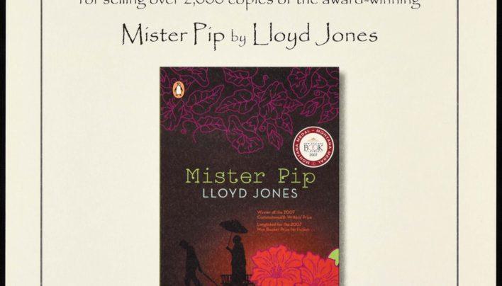 Mister Pip sales reach 2000 copies, 2008