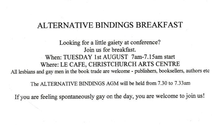 Alternative Bindings, 1st August 2010
