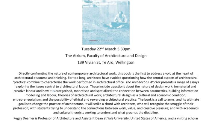 Architect as Worker launch, 22nd March 2016