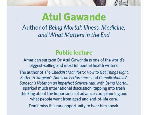 Atul Gawande lecture, 18th May 2015