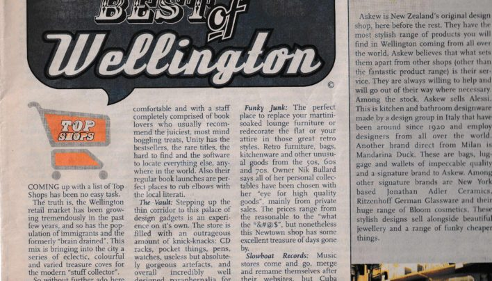 Best of Wellington, City Voice, 5th June 2001