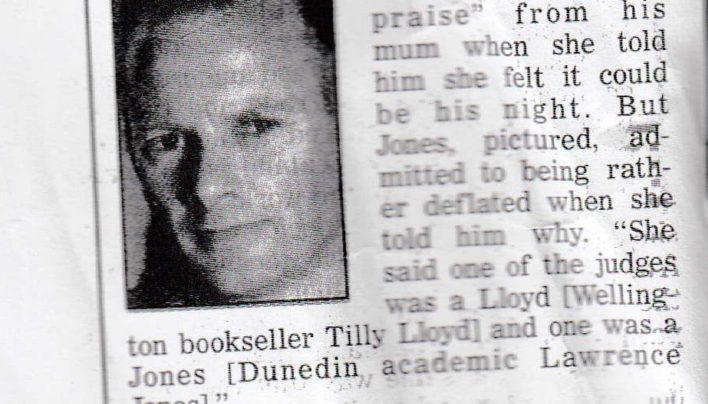 Lloyd Jones in the Dominion Diary, 3rd August 2001