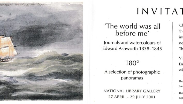 Edward Ashworth Exhibition Invitation, 26th April 2001