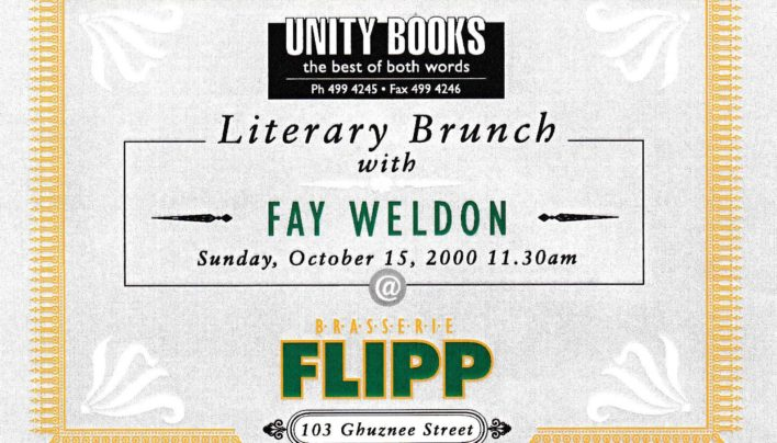 Literary Brunch with Fay Weldon, 15th October 2000