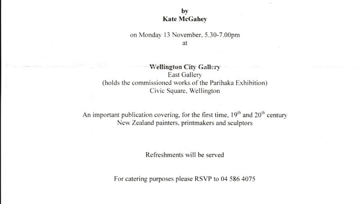Concise Dictionary of New Zealand Artists launch, 13th November 2001