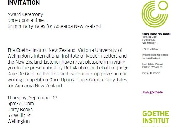 Goethe Institut Award Ceremony, 13th September 2012
