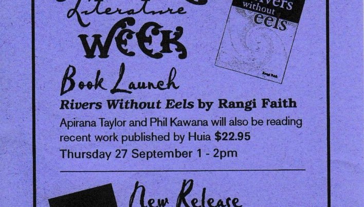 James K Baxter & Rangi Faith launch flyer, 26th September 2001