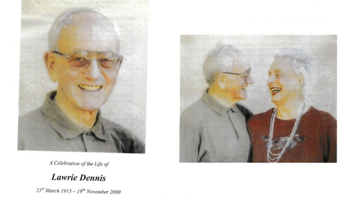 Lawrie Dennis funeral, 23rd November 2000