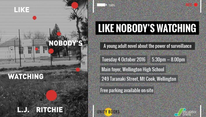 Like Nobody's Watching launch, 4th October 2016