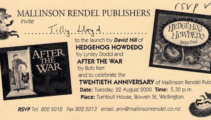 Mallinson Rendell 22nd August – 2nd November 2000