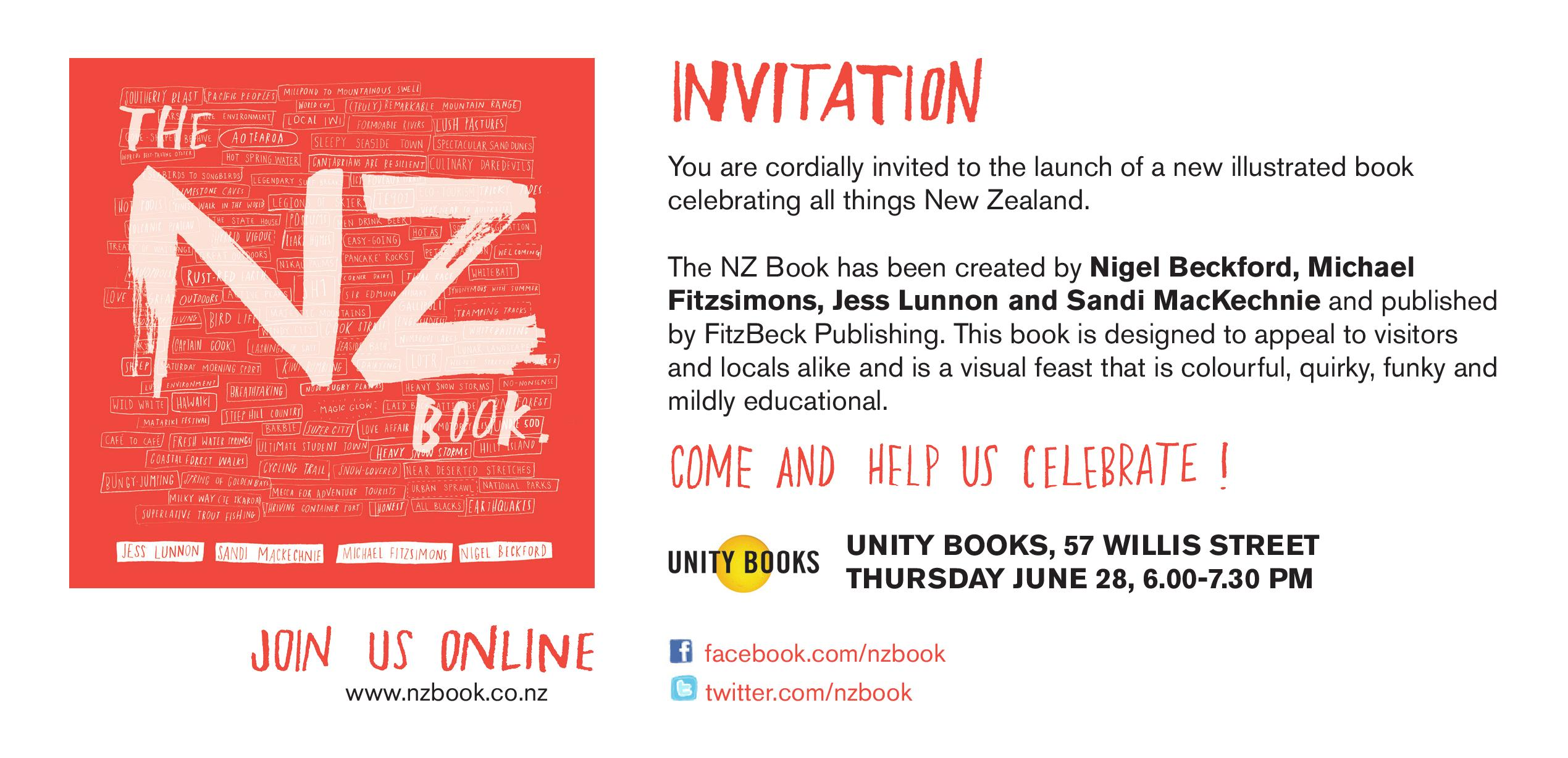 NZ Book Launch, 28th June 2012 | Unity Books