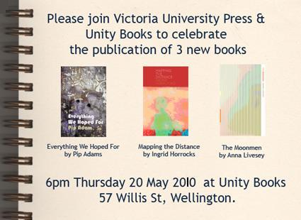 Victoria University Press Combined Launch 20th May 2010 border=
